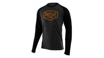 Troy Lee Designs Motor Oil Langarmshirt Herren charcoal/black