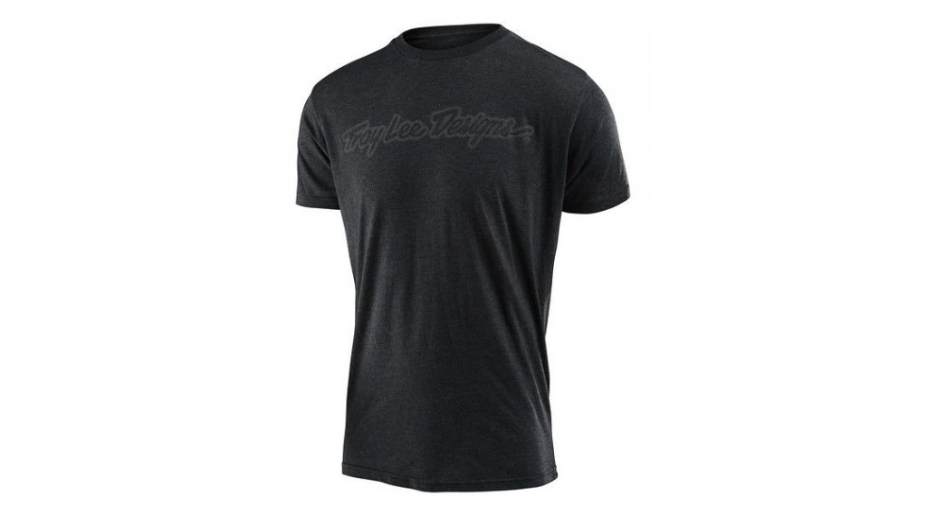 Troy Lee Designs Signature T-Shirt 长袖 男士 型号 SM (S) heather charcoal
