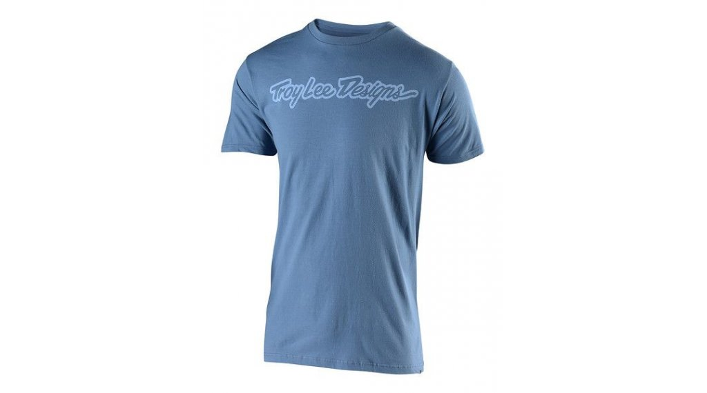 Troy Lee Designs Signature T-Shirt 短袖 男士 型号 MD (M) steel blue/lilac