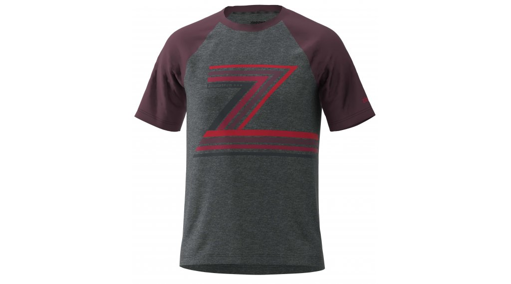 Zimtstern The-Z Tshirt Herren kurzarm Gr. XL gun metal melange/ windsor wine