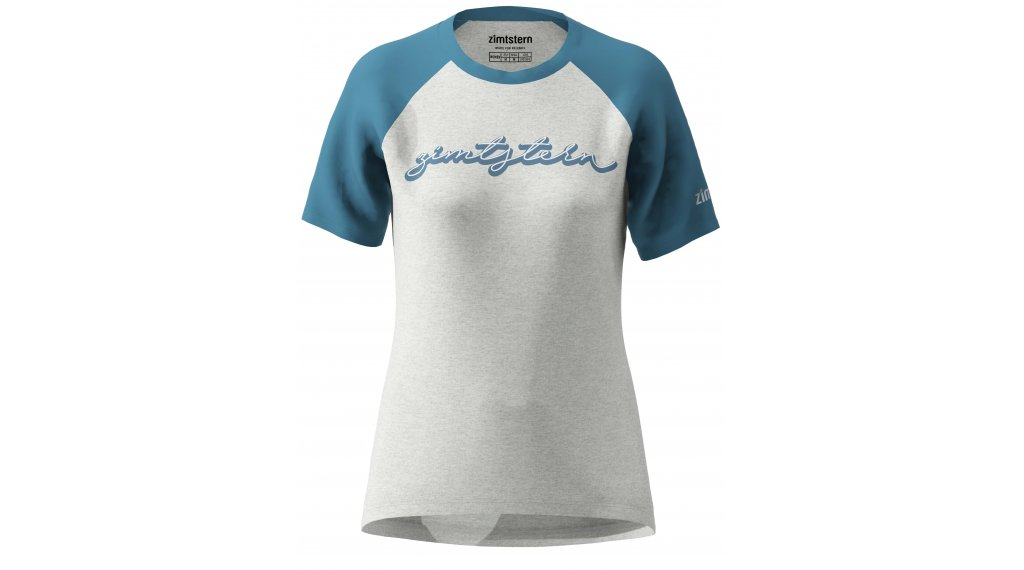 Zimtstern Sweetz T-Shirt Damen kurzarm Gr. S glacier grey melange/blue steel