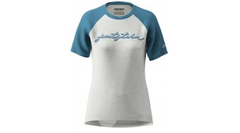 Zimtstern Sweetz T-shirt ladies short sleeve glacier grey melange/blue steel
