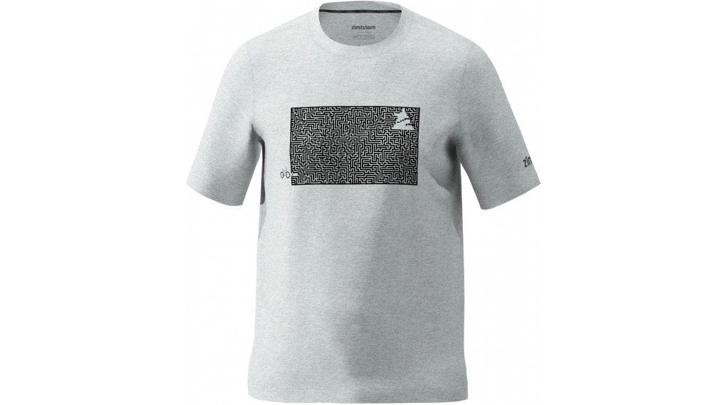 Zimtstern Shiningz T-Shirt kurzarm Herren Gr. M glacier grey melange