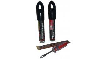 MaXalami Basic TubeReparatur Set für schlauchlose Reifen (Werkzeug + 3x1,5mmFlickstreifen)