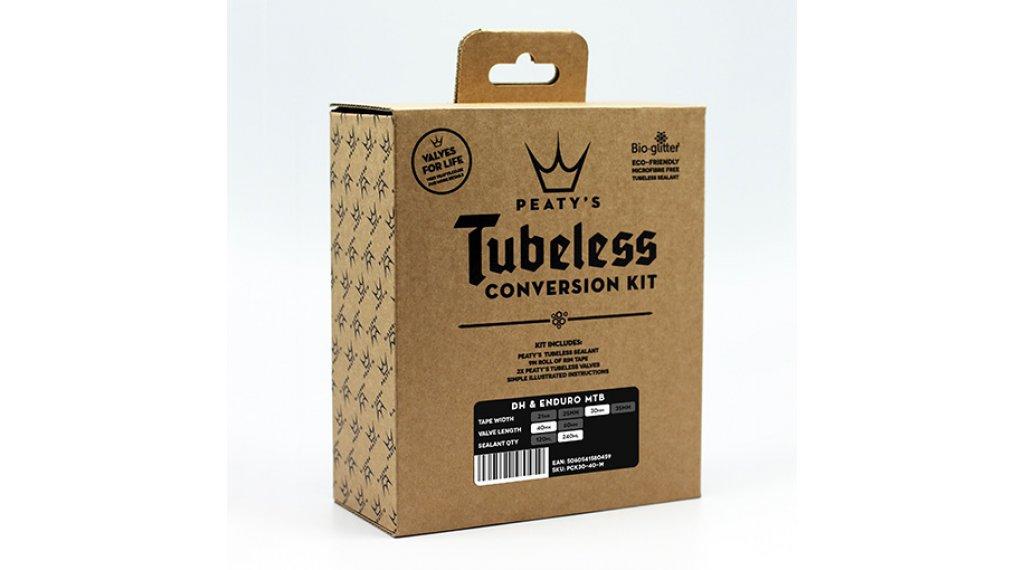 Peatys Tubeless Conversion Kit Enduro / DH 35mm Komplettset Ventile 42mm