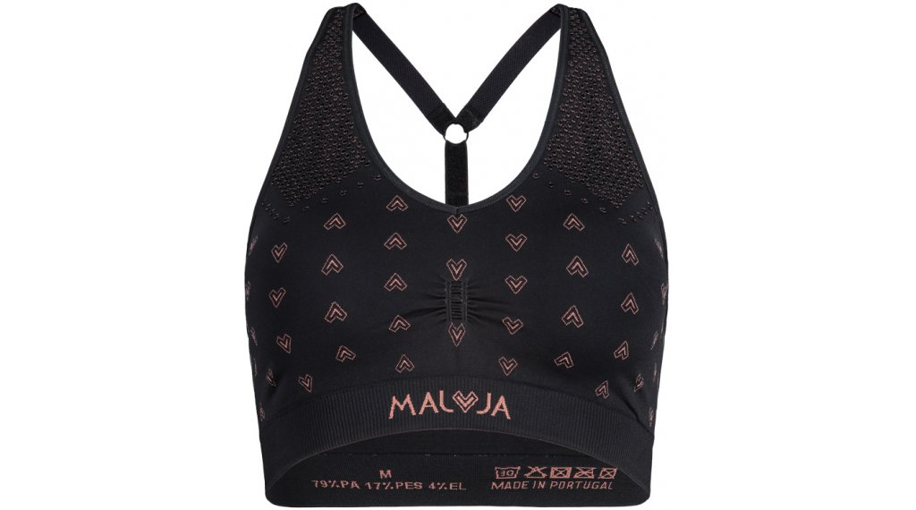 Maloja ValladaM. reggiseno sportivo da donna mis. XS/S moonless