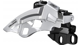 Shimano Deore 3x10 speed front derailleur black E- type for Direct-Mount (without bottom bracket plate) Top-Swing dual-Pull 42-40T 66-69° FD-M610-E