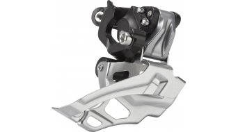 Shimano Deore 2x10-sebességes első váltó ezüst 34.9/31.8/28.6mm Down-Swing Dual-Pull 44-38T 66-69° FD-M616