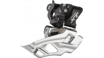 Shimano XT 2x10-velocidades desviador delantero negro(-a) 34.9/31.8/28.6mm Down-Swing Dual-Pull 44-38 dientes 66-69° FD-M786-A