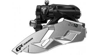 SRAM GX 前拨链器 2x10 Clamp_Low Dual_Pull black