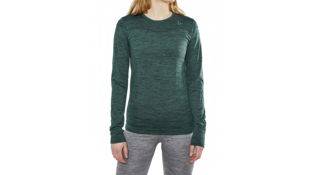 Craft Fuseknit Comfort Roundneck 贴身衣 长袖 女士 型号 M pine/melange- MUSTERKOLLEKTION