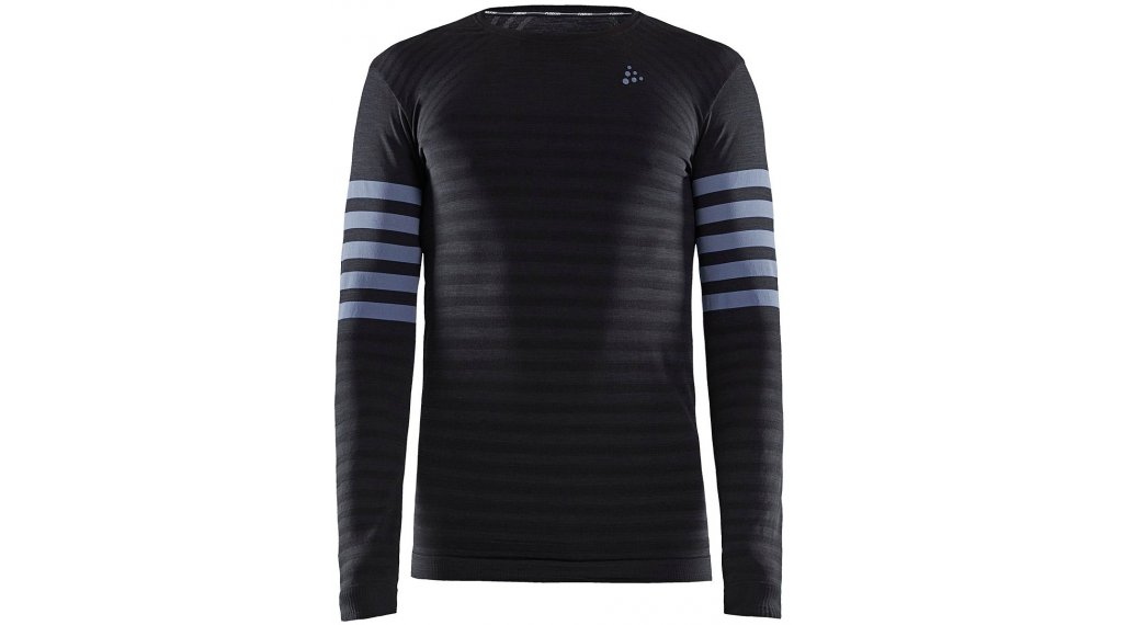 Craft Fuseknit Comfort Blocked Roundneck Unterhemd langarm Herren Gr. S black/asphalt
