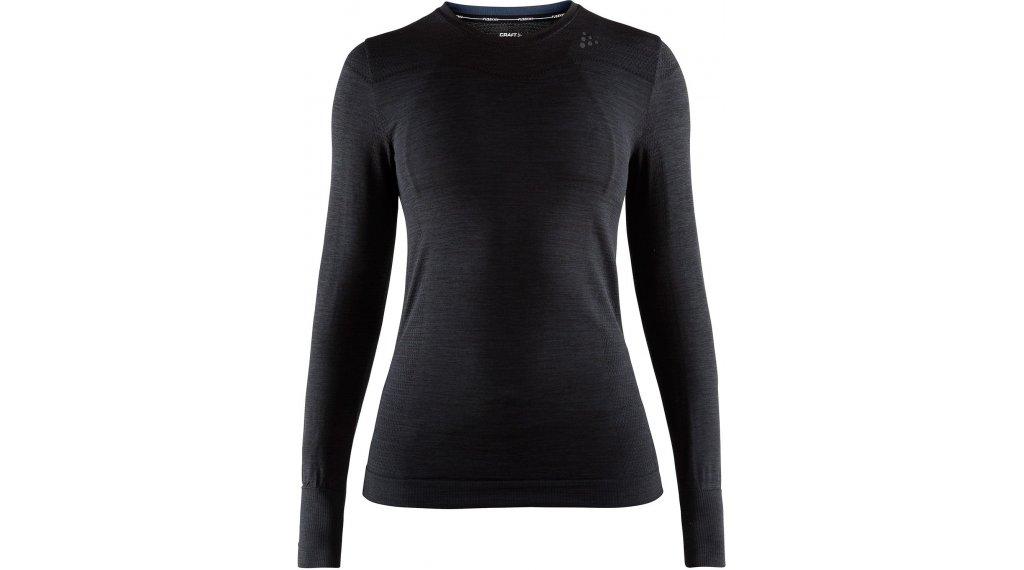 Craft Fuseknit Comfort Roundneck Unterhemd langarm Damen Gr. M black