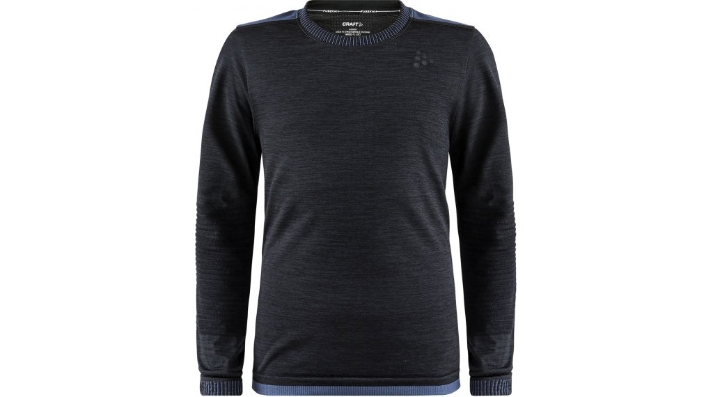 Craft Fuseknit Comfort Roundneck undershirt long sleeve kids size 146/152 black