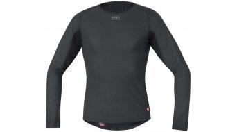 GORE Bike Wear Base Layer Windstopper® Thermo camiseta manga larga Caballeros negro