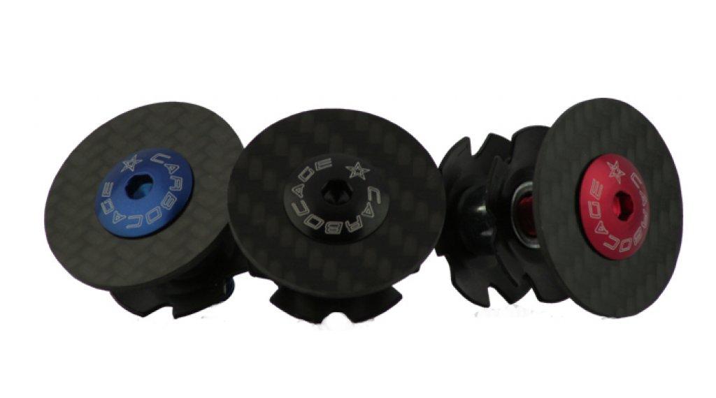 Carbocage Carbon Aheaddeckel 1 1/8 mit Kralle, Aluminiumschraube schwarz eloxiert