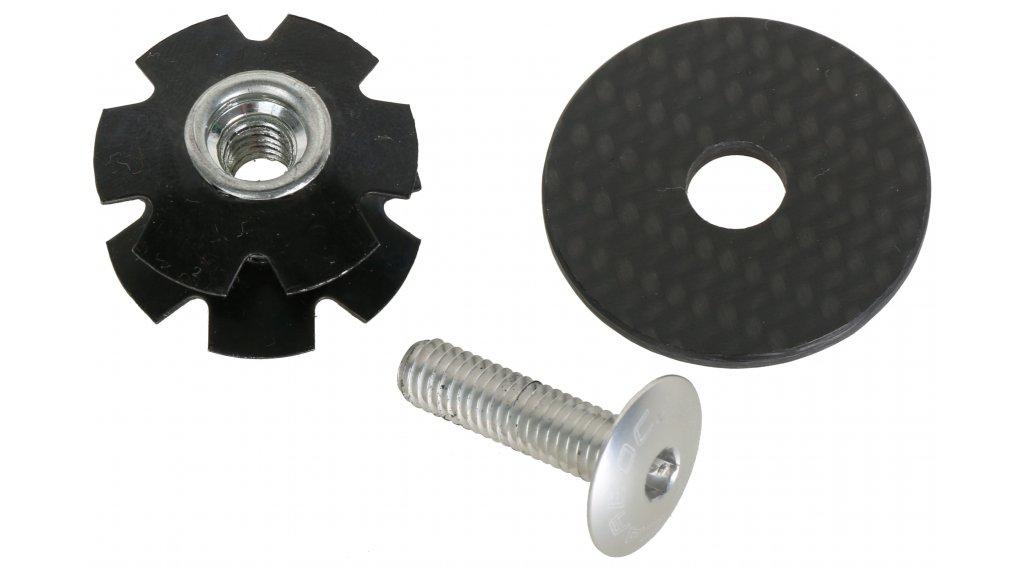 Carbocage Carbon Aheaddeckel 1 1/8 mit Kralle, Aluminiumschraube silver eloxiert