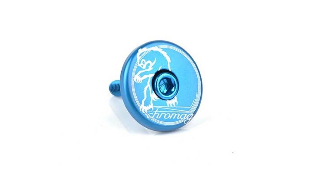 Chromag Logo Top Cap blue