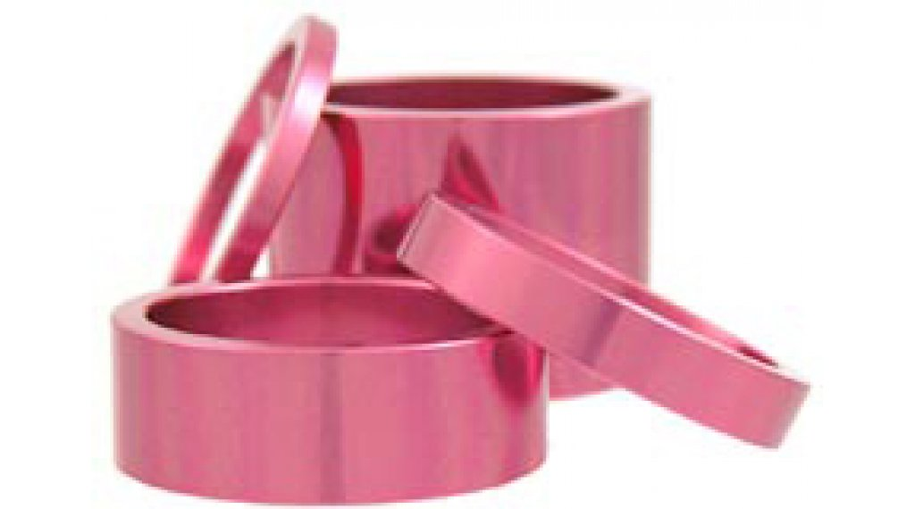 Chris King Headset Spacer Kit 1 1/8 pink