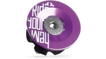 Dartmoor Top Cap Ride Your Way logo 1 1/8 purple