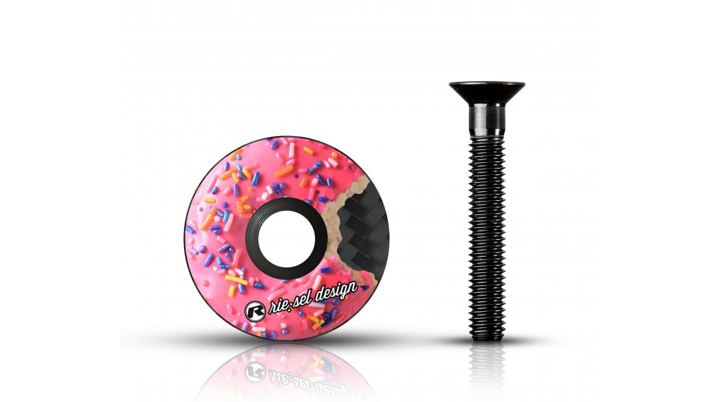"""Riesel Design stem:cap Vorbau Ahead-Kappe 1 1/8"""" donut mk II"""