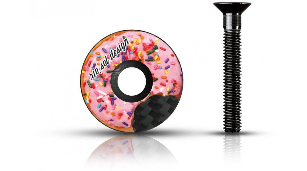 """Riesel Design stem:cap Ahead Kappe 1 1/8"""" donut"""