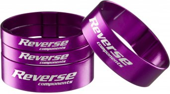 Reverse Ultra Light Alu Spacer Set 1 1/8 purple