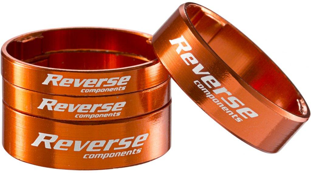 Reverse Ultra Light Alu Spacer Set 1 1/8 orange