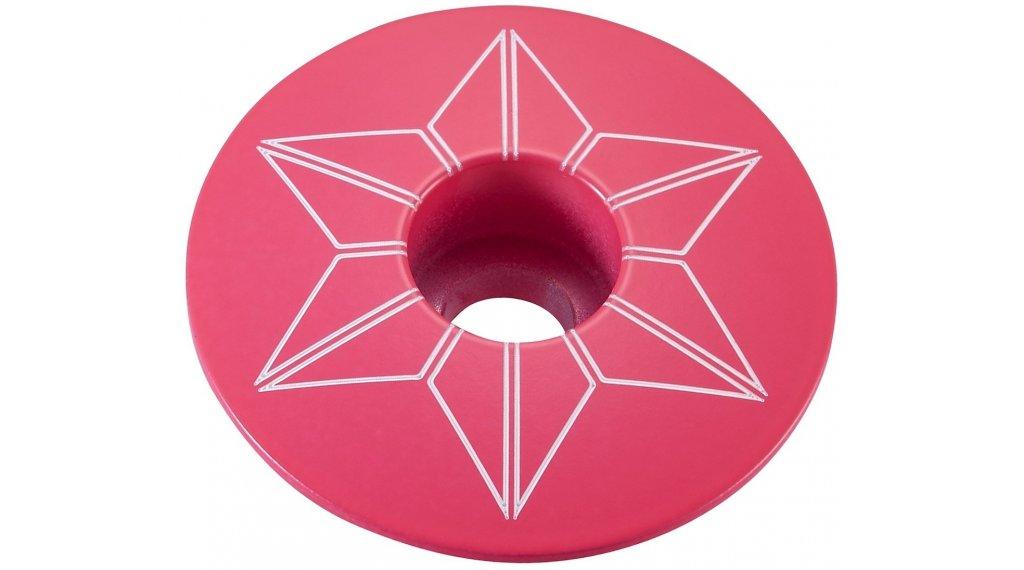 Supacaz Star Capz Power Coated Ahead-帽 neon 粉色