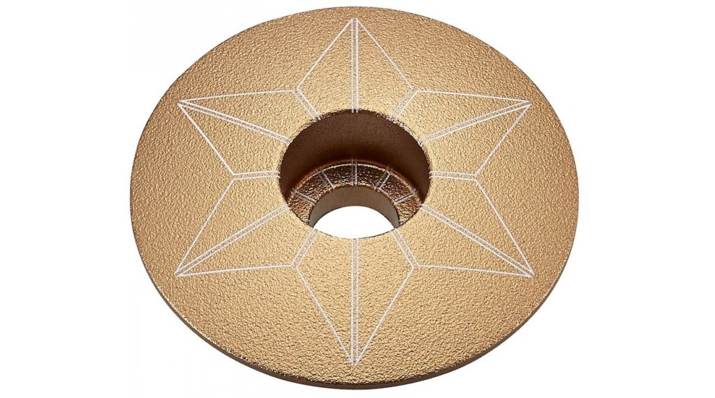 Supacaz Star Capz Anodized Ahead-Kappe gold