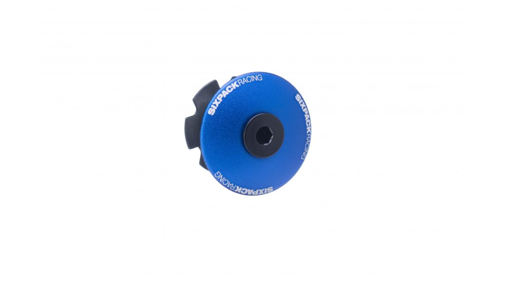 "Sixpack Menace Aheadcap 1 1/8"" blue"