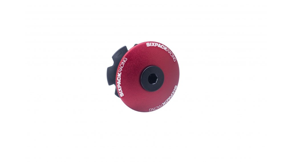 "Sixpack Menace Aheadcap 1 1/8"" red"