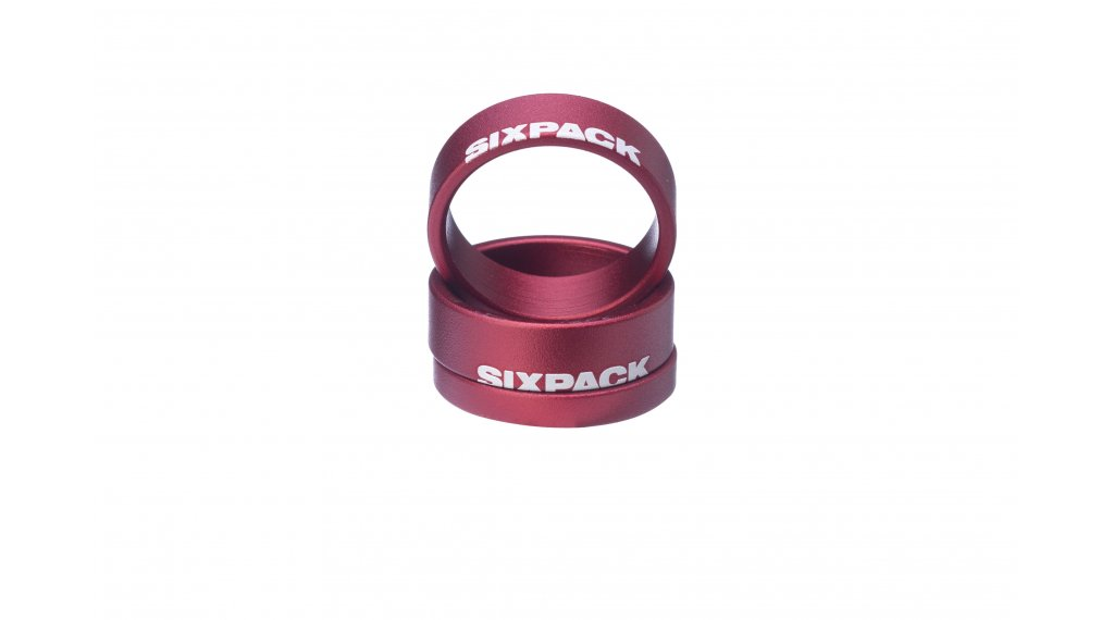 """Sixpack Menace Spacer 1 1/8"""" red"""