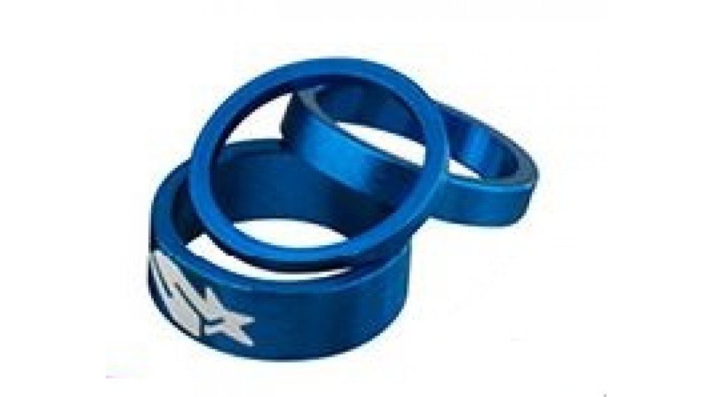 "Spank Spacer-Set 1-1/8"" 3/6/12mm blue"