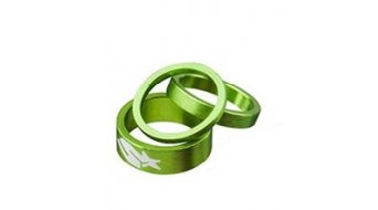 "Spank Spacer-Set 1-1/8"" 3/6/12mm green"