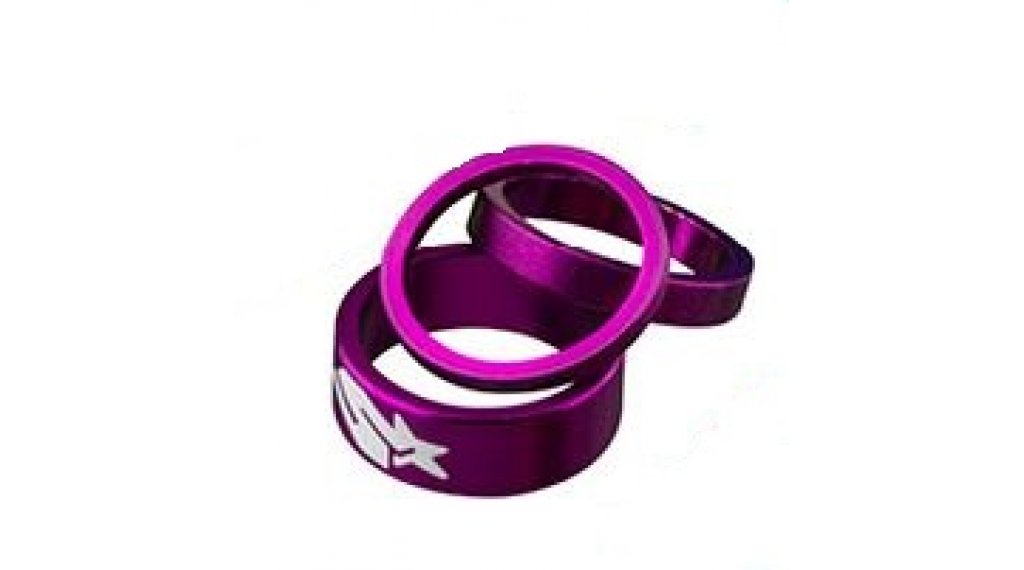 "Spank Spacer-Set 1-1/8"" 3/6/12mm purble"
