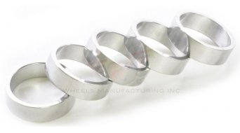 "Wheels Manufacturing Headset Spacer 1 1/8"" 10.0mm (5 Stk) silver"