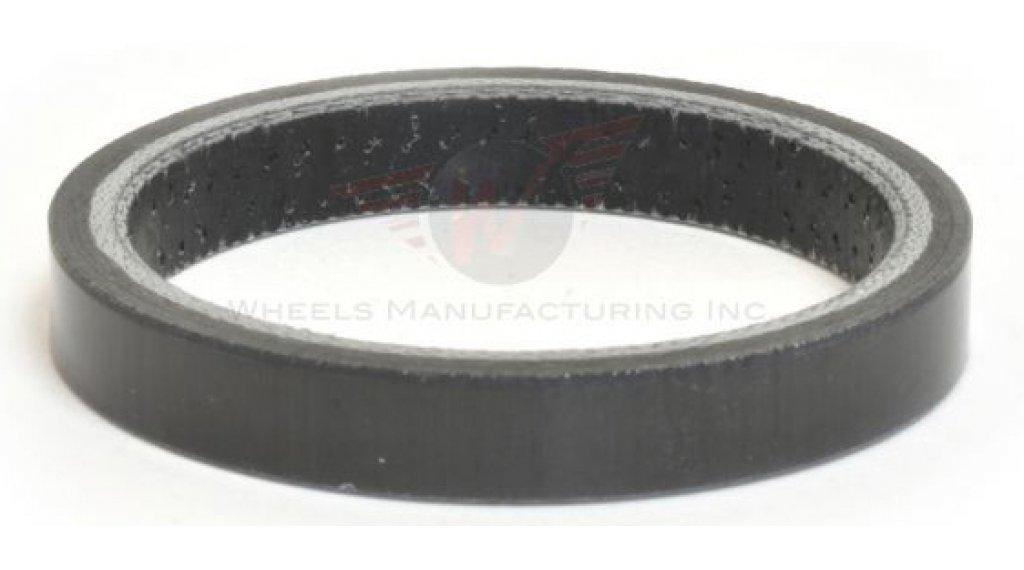 "Wheels Manufacturing Headset Spacer Carbon 1 1/8"" 5.0mm (5 Stk) UD black"