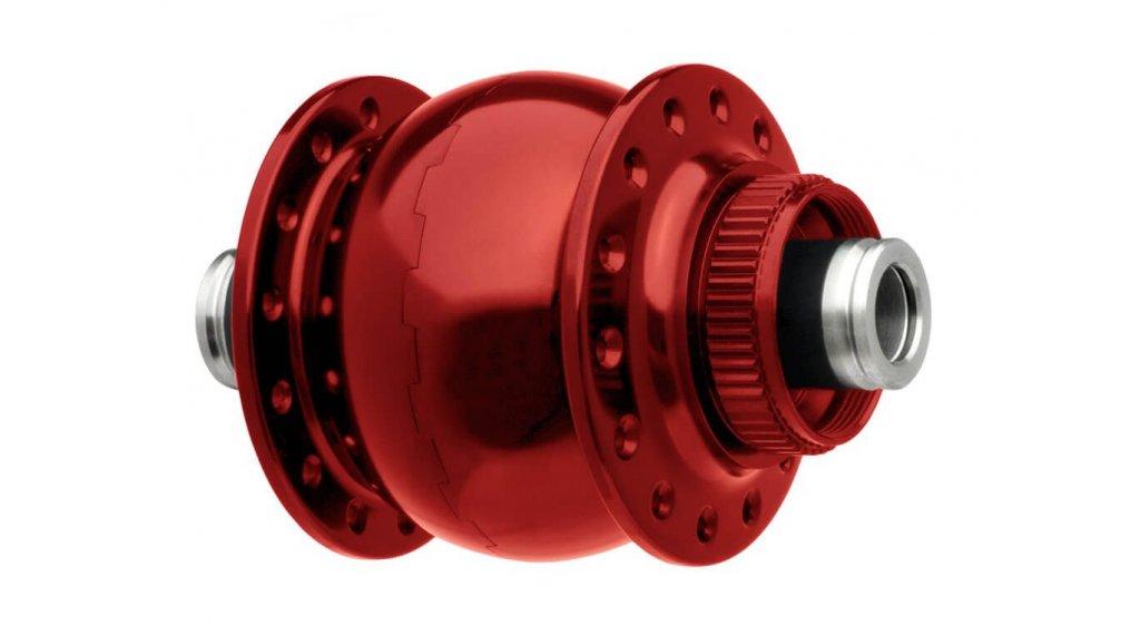 SON 28 Disc 12 Vorderrad Nabendynamo 32 Loch 12x100mm Center-Lock rot eloxiert