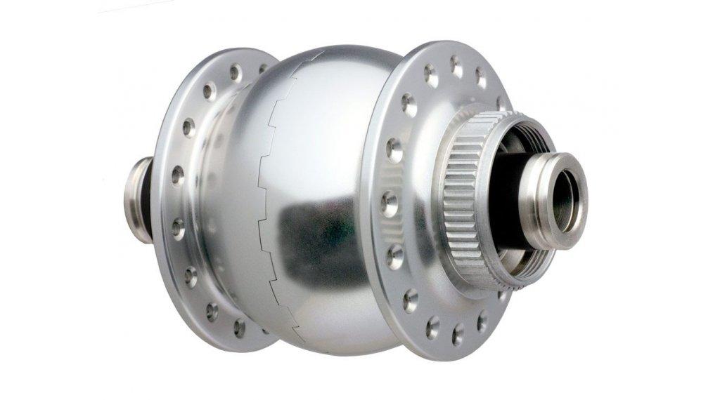 SON 28 Disc 12 Vorderrad Nabendynamo 32 Loch 12x100mm Center-Lock silber eloxiert