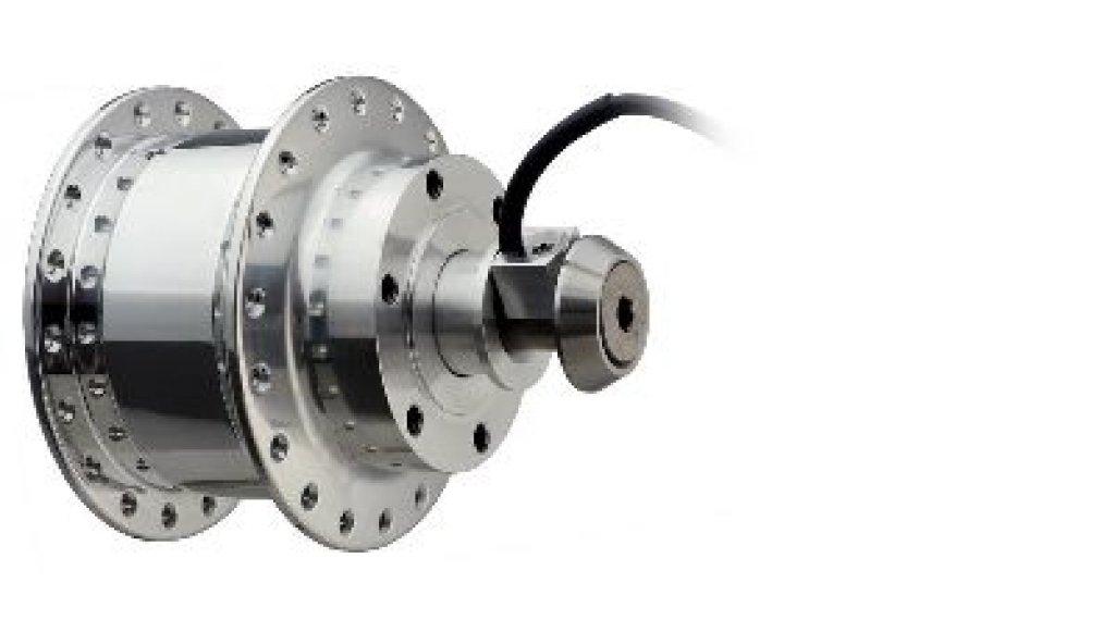SON XS-M Disc Nabendynamo 36 Loch Achsende Ø 12x13,6mm für Aidoo Anhänger poliert