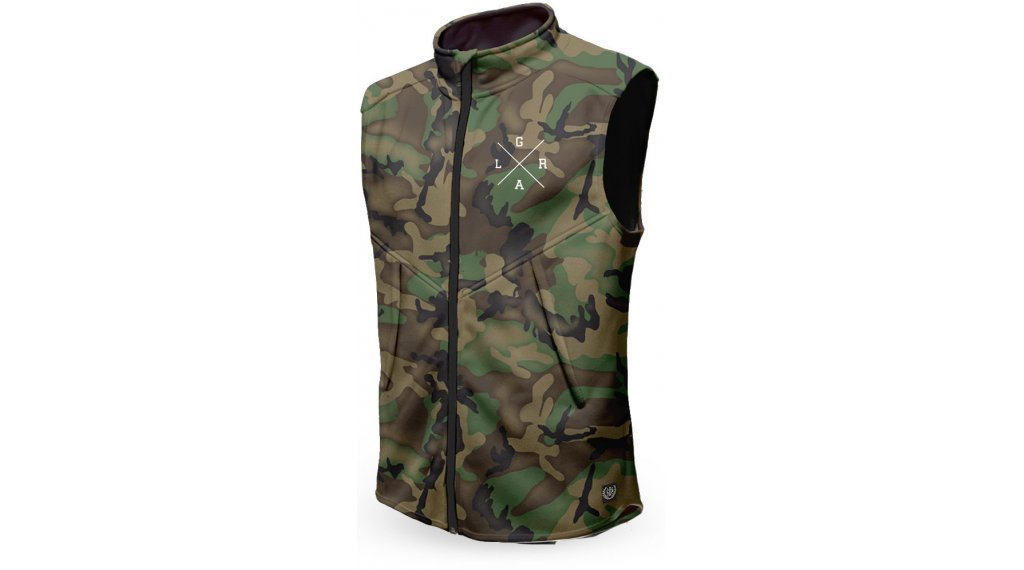 Loose Riders Forest Camo Technical vest men size S green/brown