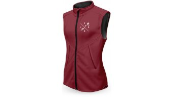 Loose Riders Burgundy Technical vest ladies dark red