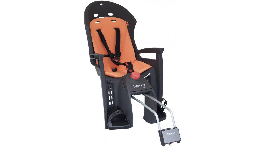Hamax Siesta Детско столче за велосипед със заключващ се монтажен механизъм, сив/orange модел 2019