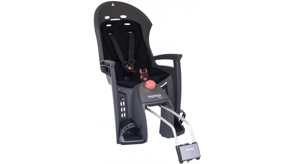 Hamax Siesta Детско столче за велосипед със заключващ се монтажен механизъм, сив/черно модел 2019