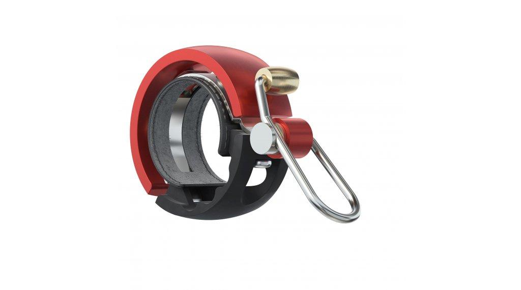 Knog Oi Luxe Fahrradklingel Alu Klingel Small black/red