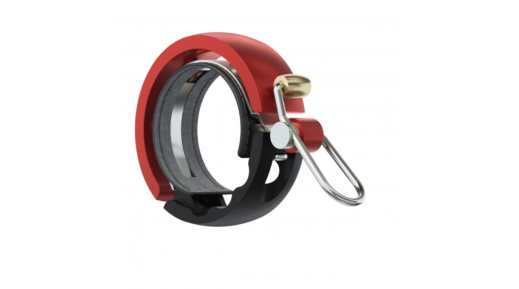 Knog Oi Luxe Fahrradklingel Alu Klingel Large black/red