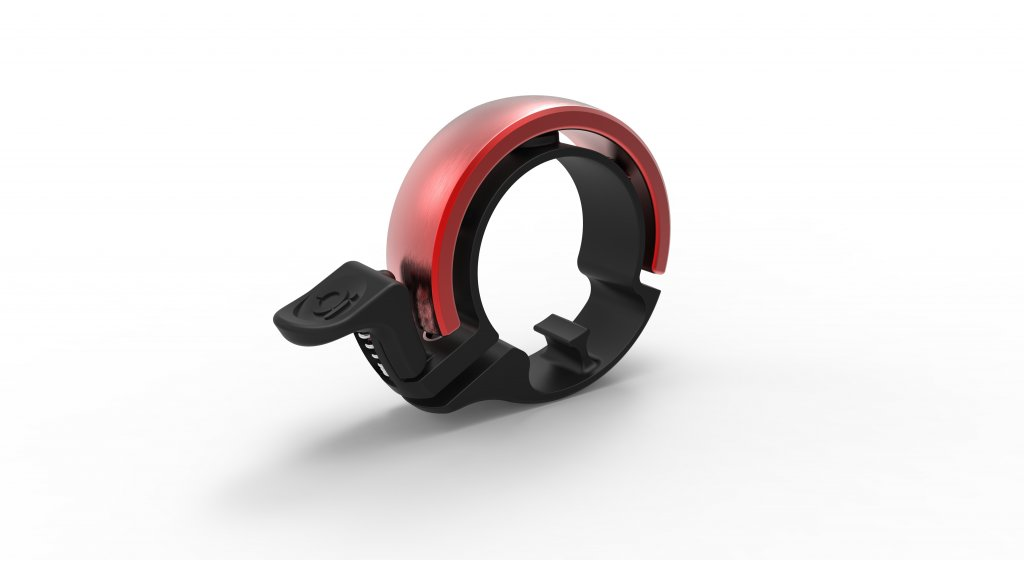 Knog Oi Fahrradklingel Alu Klingel Large black/red - Limited Edition