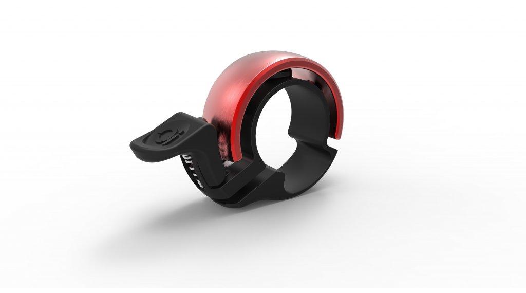 Knog Oi Classic bici campanello allum. campanello Small nero/rosso