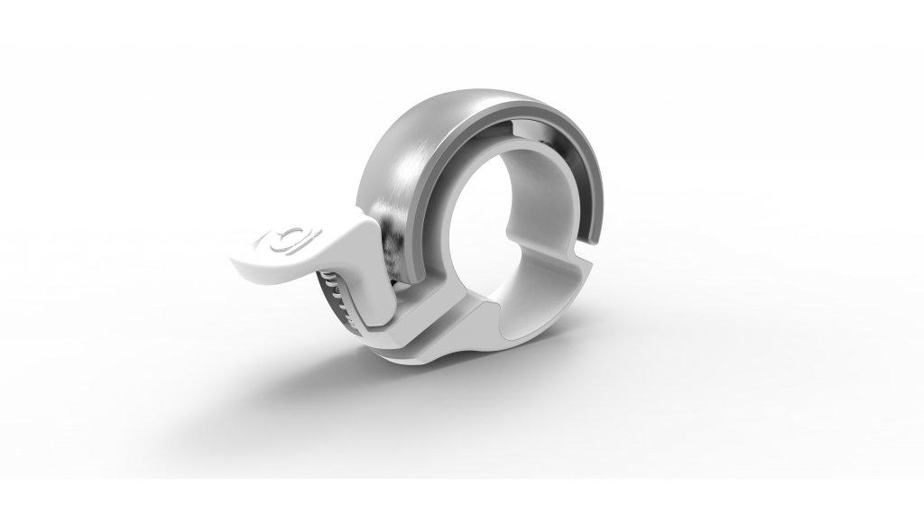 Knog Oi Fahrradklingel Alu Klingel Small white/silver - Limited Edition
